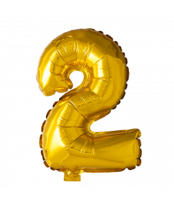 Folie ballon guld 41 cm 2