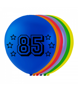 Balloner med tal 85