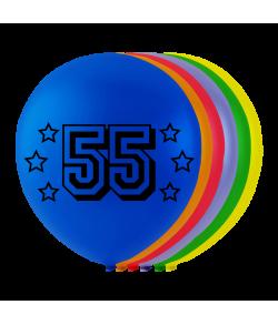 Balloner med tal 55