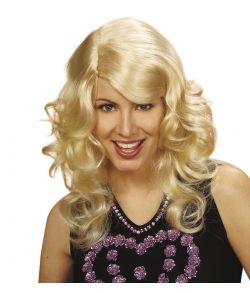 Langhåret blond paryk med fald.
