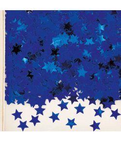 Blå stjernekonfetti