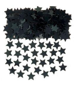 Sort stjernekonfetti