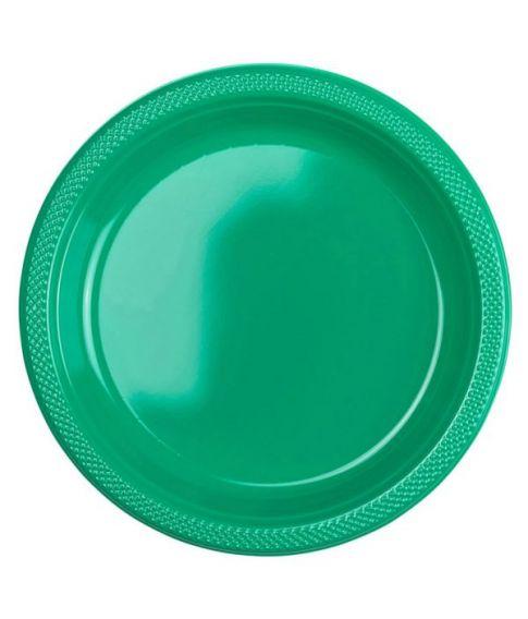 Vellidte Grønne plastik tallerkner MX-98