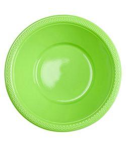 Kiwigrøn plastik skål.