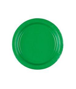 Grønne paptallerkner 17,8 cm