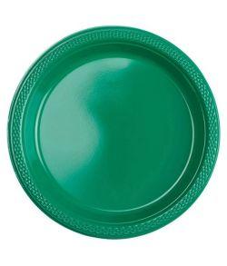 Grønne plastik tallerkner 17,7cm