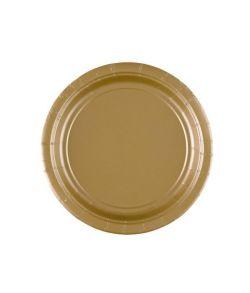 Guld paptallerkner 17,7 cm