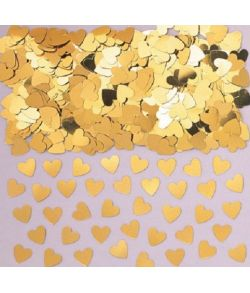 Guld hjerte konfetti, 14 g