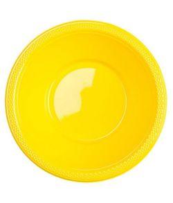 Gule plastik skåle 10 stk