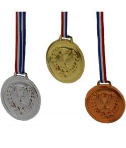6 medaljer guld, sølv og bronze
