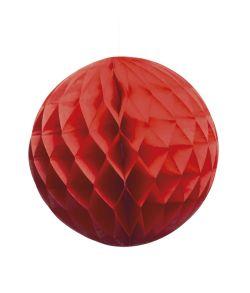 Rød dekorativ papir kugle