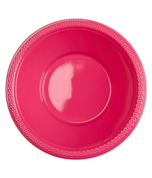 Magenta plastik skåle