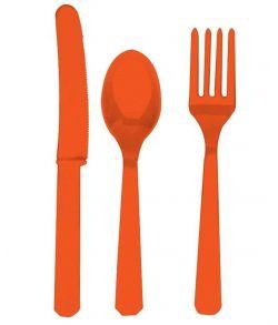 Bestik Orange 3 x 8 stk