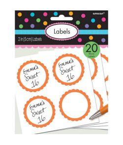 Etiketter Orange 20 stk