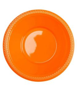 Orange plastikskåle.
