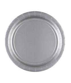 Sølv paptallerkner 22,8 cm