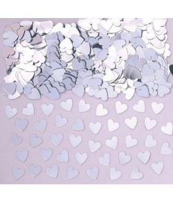 Hjerte sølv konfetti, 14 g