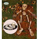 Pose med halloween knogler