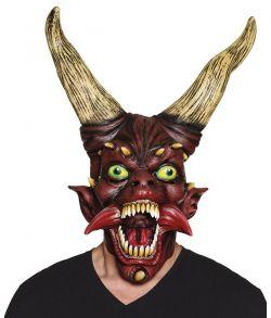 Djævle maske m horn