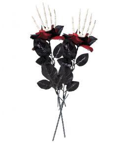 Rose med skelet hånd