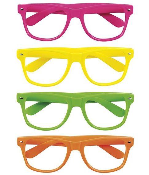 4 stk Neon Briller