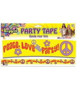 Afspæringsbånd til 60er hippiefest