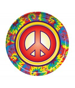 60er Hippie paptallerkner
