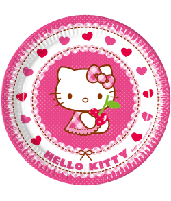 Hello Kitty tallerkner, 8 stk