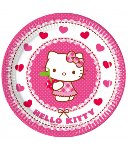 Hello Kitty tallerkner. 8 stk