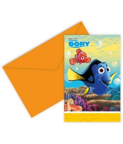 Find Dory invitationer 6 stk