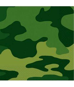 Camouflage servietter 25x25 cm