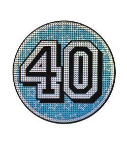 40 års fødselsdagsskilt