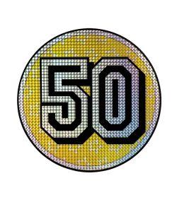 50 års fødselsdag skilt.