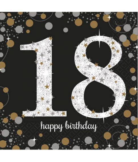 Flotte servietter til 18 års fødselsdag.