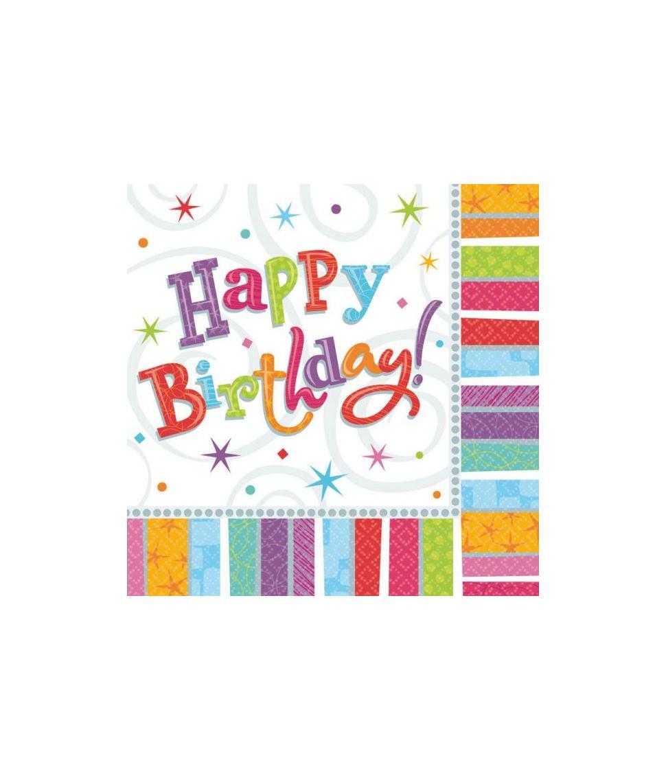 Servietter Happy Birthday