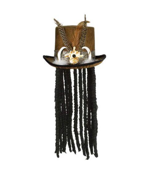 Heksedoktot hat med dreadlocks
