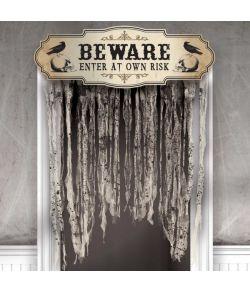 Beware haloween dørgardin