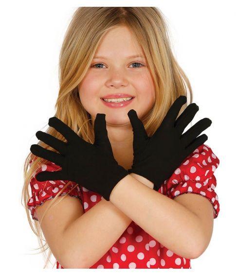 Sorte korte handsker, barn