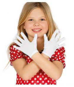 Hvide korte handsker, barn