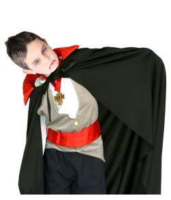 Sort vampyr kappe, barn 90 cm