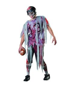 Halloween Zombie football spiller kostume