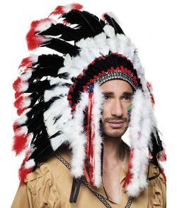 Indianer høvdinge fjerprydelse.
