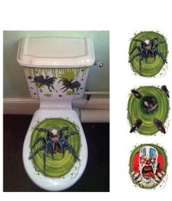 Halloween toilet dekoration