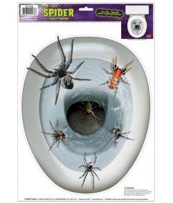 Edderkopper toilet dekoration