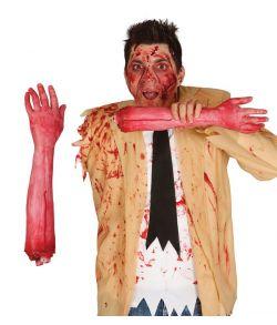 Blodig afrevet arm