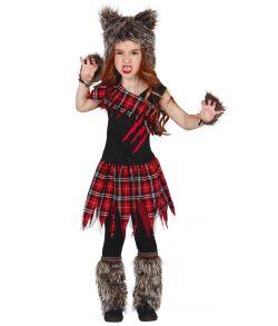 Scottish Wolf Varulv kostume til piger.