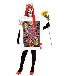Spillekort dame skelet kostume