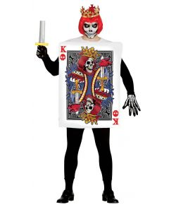 Spillekort Konge skelet kostume