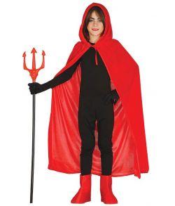 Rød kappe med hætte til børn.