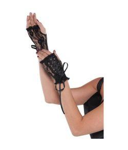 Fingerløse blonde handsker, sorte